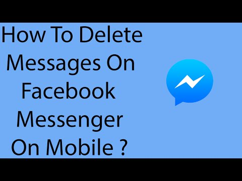 How To Delete Messages On Facebook Messenger Mobile App -2016 ?