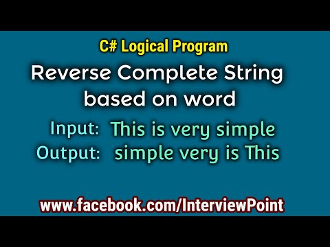 Program to Reverse each word of the string in C#.Net || Reverse string words program  By D.K. Gautam