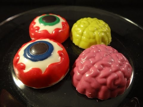 Candy Melt Demo #11: Halloween Eyeball and Brain Candy/Cookie Mold
