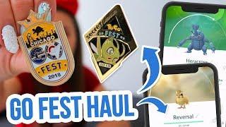PINS, SHIRTS & MY FAVOURITE TRADES! Pokemon GO Fest 2018 Haul! ZoeTwoDots