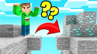 Playing MINECRAFT Without JUMPING! (We Found DIAMOND)