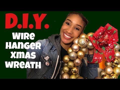 HOW TO MAKE MAKE HANGER WREATH
