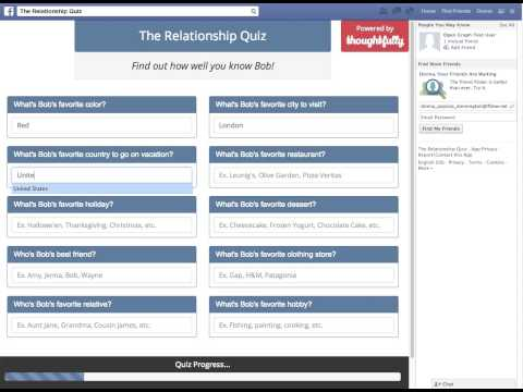 Relationship Quiz Facebook App by Thoughtfully - Demo