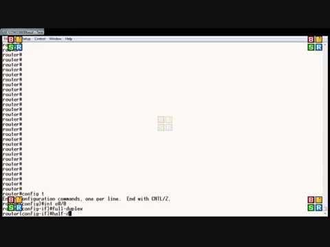 Cisco router set duplex