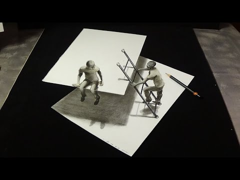 😯Incredible Drawing this is Impossible ... 3D Trick Art on Paper - VamosART