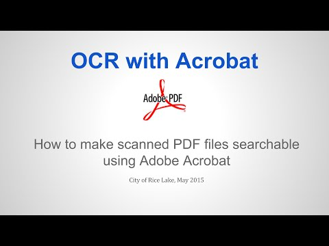 Creating searchable PDF files with Acrobat