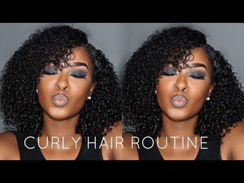BEST NATURAL LOOKING WEAVE! SUMMER CURLY HAIR ROUTINE 2017 ft. Peerless Virgin Hair | Pitts Twins