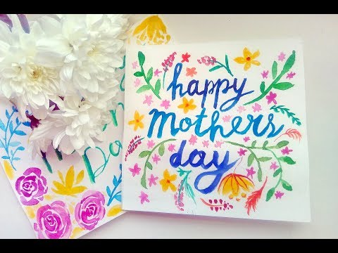 DIY Mother's Day Watercolors Cards - Easy Gift Ideas For Your Mom