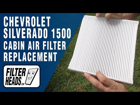 How to Replace Cabin Air Filter 2016 Chevrolet Silverado 1500