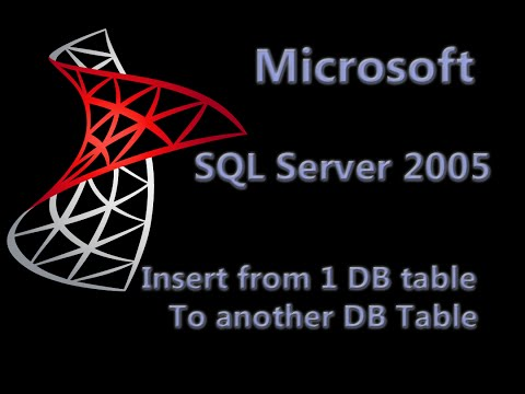 SQL Server 2005 Lesson 2 - Insert from 1 DB table to another DB table