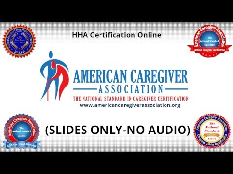 HHA Certification Online-How To Get Home Health Aide Certification