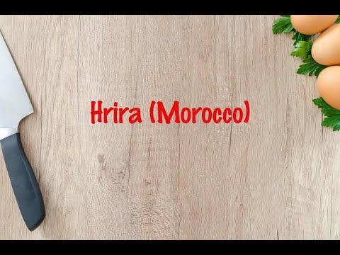 How to cook - Hrira (Morocco)