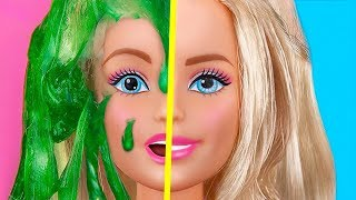 9 DIY Miniature Slime Stress Relievers / Clever Barbie Hacks And Crafts
