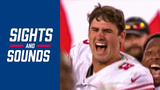 """Top Sounds from Daniel Jones' INCREDIBLE First Start, """"You have to believe!""""   Giants vs. Bucs"""