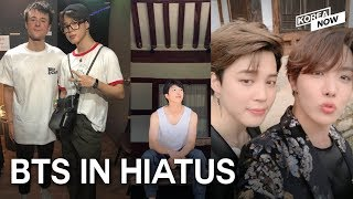 What are BTS members doing for their first vacation?