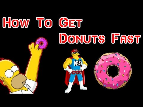 TSTO How To Get Donuts Fast (TSTO How To Tutorial)