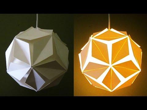DIY pendant lamp/lantern (5 petals) - home and room decor - EzyCraft