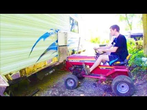 Sagging Wall Lift  - Weekend Warrior Toy Hauler Camper Trailer RV