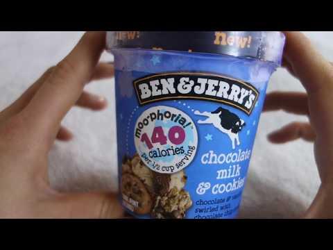 Ben & Jerrys Moophoria: Chocolate Milk & Cookies light ice cream -REVIEW: ENG/DE
