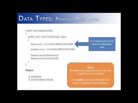 Data Types Part 3: double (Java)