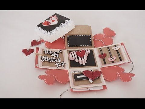Valentines Day Exploding Box Card Full Tutorial