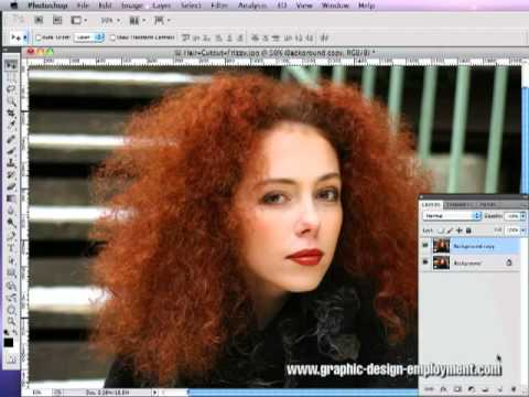 How to Cut Out Hair in Photoshop Tutorial #02 (Part 1 of 2)