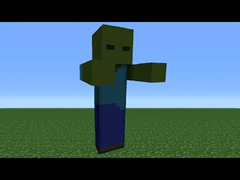 Minecraft Tutorial: How To Make A Zombie Statue