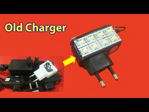 LED Light from old Charger and Adaptor