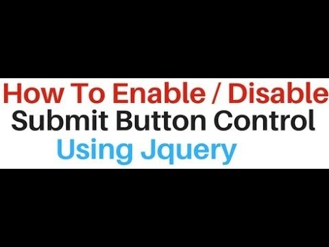 using jquery Enable and disable Submit input Button (condition)