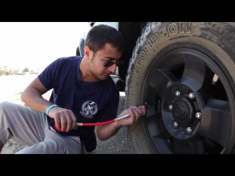 How to deflate tires
