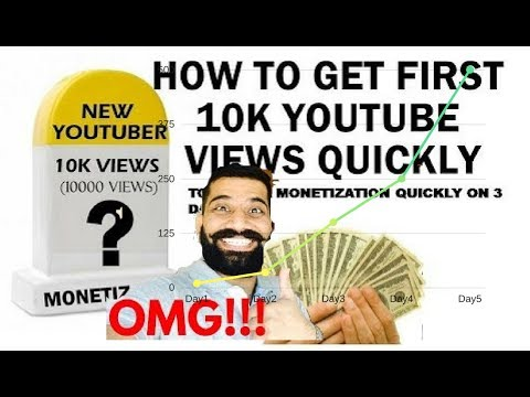 100%  Working -  😱Get 10000 views on Youtube 2017 | Enable monetization before 10000 views