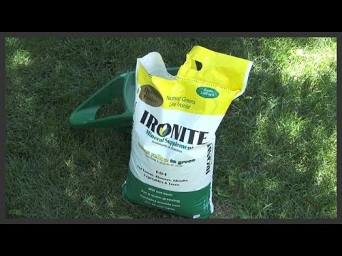 How to apply Ironite fertilizer