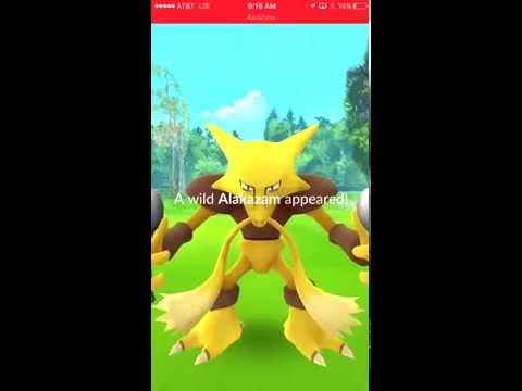 Wild alakazam hunt and catch!!- Pokemon go