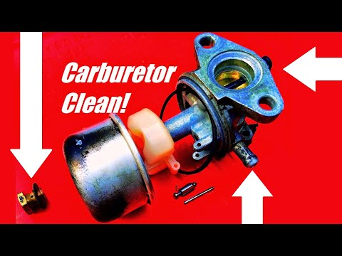 HOW TO FIX a Lawn Mower by Cleaning the Carburetor