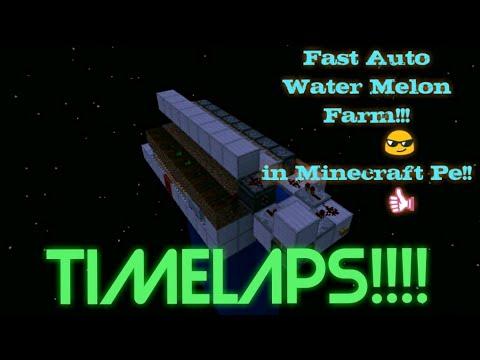 Auto Melon Farm in Minecraft pe! (Timelaps)!