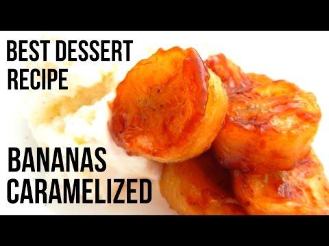 CARAMELIZED BANANA DESSERT (Homemade Recipe, How to make video, DIY) - Inspire To Cook