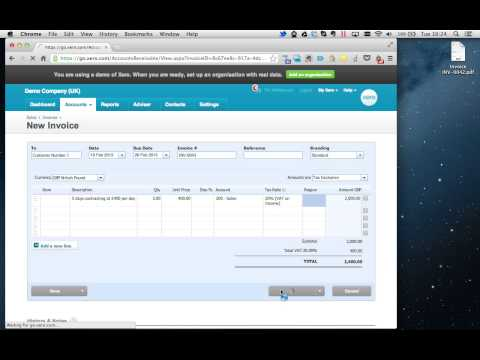 How to raise a sales invoice using Xero Online Accounting