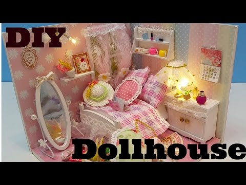 Dollhouse, cutter room, DIY dollhouse, miniature doll house kit, dollhouse tutorial, cute DIY,