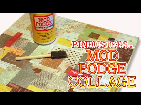 Homemade Collage Using Mod Podge // THE MOD PODGE COLLAGE!