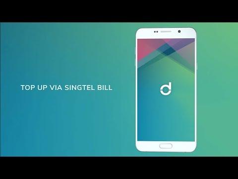 Top up your Singtel Dash app on-the-go