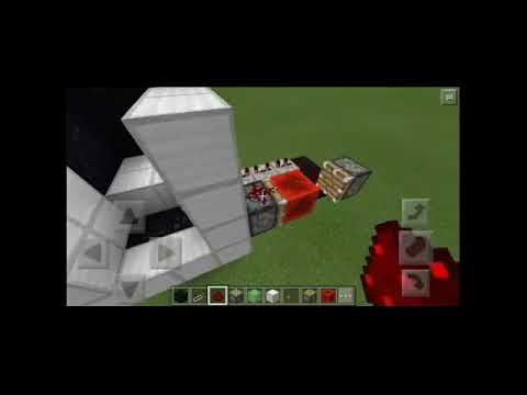 Cara membuat lift di minecraft pe v15.0 (no mods) || piston/slime block creation