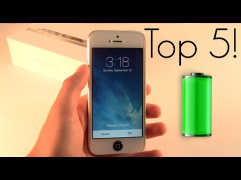 Top 5 Ways To Save Battery Life on iOS 7 / iPhone 5s / iPhone 5c