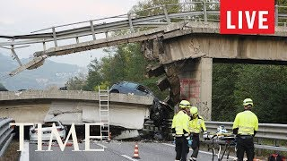 Bridge Collapse In Genoa, Italy Kills At Least 10 People | LIVE | TIME