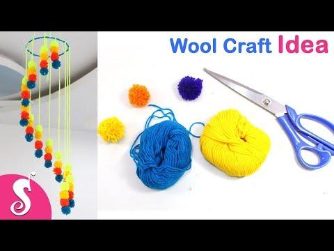 WOOL Craft Idea | DIY Pritty Ceiling Hanging | Craft with Yarn | Sonali Creations