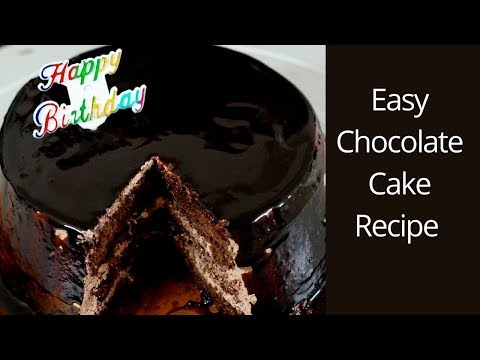 Easy Chocolate Cake Recipe - Chocolate Cake Using Cake Improver - Chocolate Cake Using Cake Gel