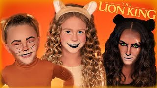 Disney The Lion King Simba, Nala, and Scar Makeup and Costumes!