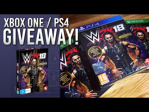 WWE 2K18 WrestleMania Edition Giveaway (XB1 & PS4)