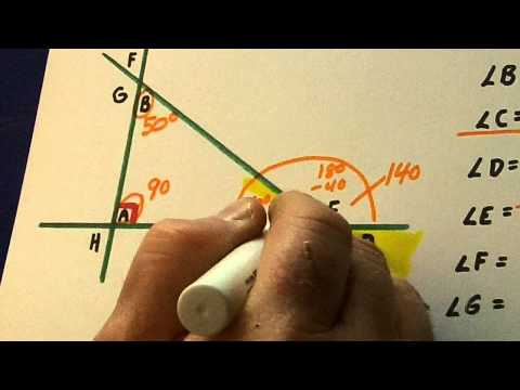Measuring Unknown Angles in Triangles: Sixth Grade Introduction
