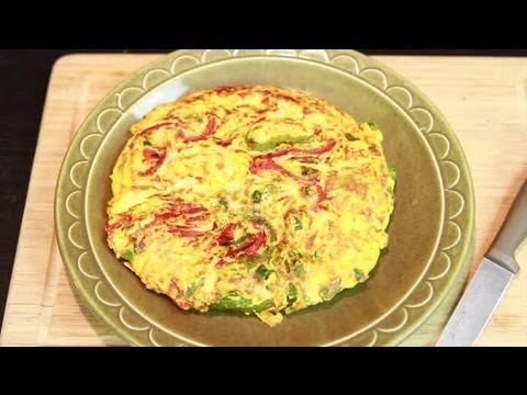 Ricotta & Roasted Pepper Frittata : Breakfast Recipes Using Ricotta Cheese