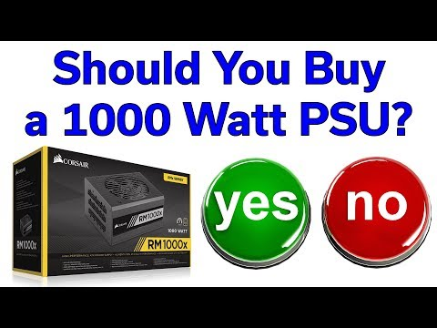 1000W Power Supply - Yes or No? - Corsair RM1000x Unboxing